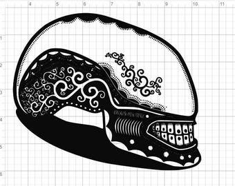 Alien Movie Sugar Skull Design SVG PDF EPS Dxf & Studio 3 Cut Files