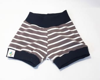 Taupe Stripes Shorties