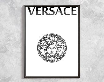 Versace Poster - Versace Print - Versace Decor - Versace Bedroom Decor - Versace Logo - Luxury Decor - Glam Art