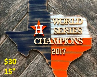 Rustic Astros World Series Sign