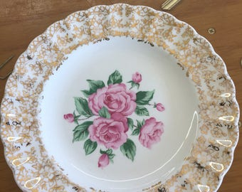 China bouquet bread plate