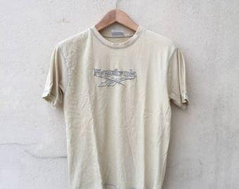 Vintage Reebok Spell Out Embroidered Logo Tshirt