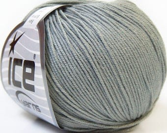ICE yarn in cotton 50grs ball, grey acrylic