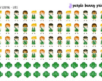 Green Scouting (Girls) // Planner Stickers!