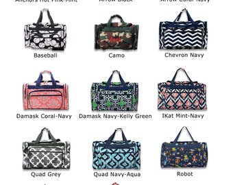 Monogram-Duffle-Personalized Duffle-Boy-Duffle-Girl Duffle-Duffle-Duffel-Overnight Bag-Luggage-Camo-Arrows-Anchors-Chevron-Bag-Childs Duffle
