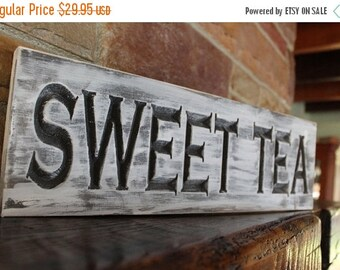 On Sale fixer upper decor, sweet tea sign, farmhouse kitchen, rustic kitchen decor, rustic kitchen sign, fixer upper sign, fixer upper style