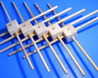 Five Baby mobile hanger Wood frame Wooden frame for Baby Mobile Diy mobile hanger Wood hanger