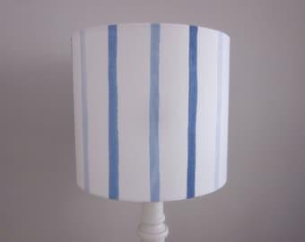 Handmade Lampshade Laura Ashley Painterly Blue Stripe