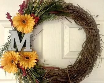 Decorative Customized Floral Wreath