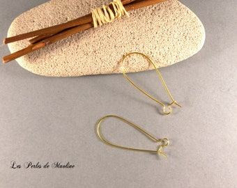 Set of 2 pairs of earrings - gold - 15x35mm hooks-