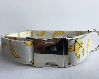 Banana Collar, Dog Collar, Banana Dog Collar