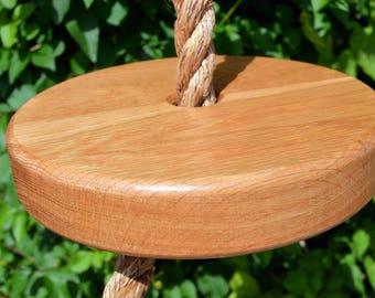 Button Swing, Garden Swing, Rope Swing, Round Swing, Solid Oak Button Swing, Solid Oak Rope Swing, Solid Oak Round Swing, Tree Swing
