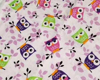 Fitted Crib sheet / fitted crib/ crib sheet / toddler sheet / owl crib sheet / girl crib sheet / purple crib sheets