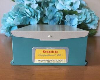 Kodak Kodaslide Compartment File Metal Storage Box