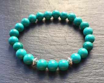 Genuine Turquoise Bracelet Natural Grade-A Stone Reiki 5th Throat Chakra