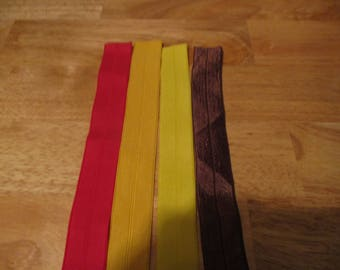 4 total 1-inch wide Fold Over Elastic