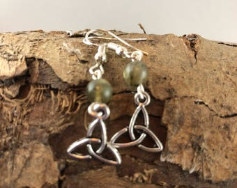 AAA Grade Labradorite  Triquetra Earrings