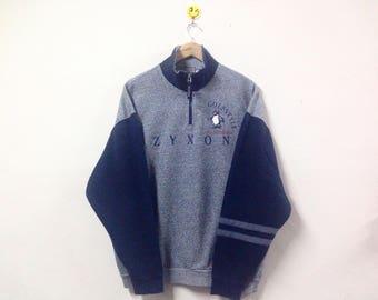 Rare!!! Munsingwear Zyxon GolfStyle Sweatshirt Half Zipper