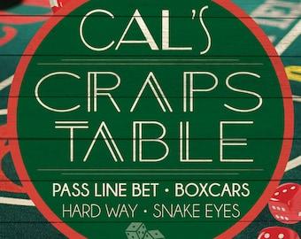Custom Craps Table Sign Digital Download