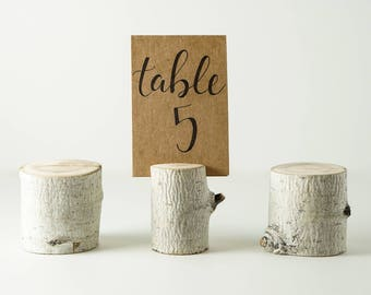 Wood Wedding Table Number Holders, Name Card Holders, Sign Holders, Picture Holders