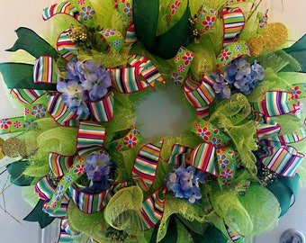 Green Summer Wreath/ Sold - No Longer Available