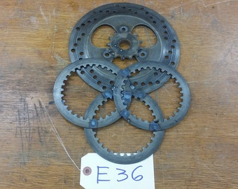 Steam Punk Sprockets Gears Wall Art Repurposed Salvage Motorcycle parts. Art Decor Industrial Metal Art
