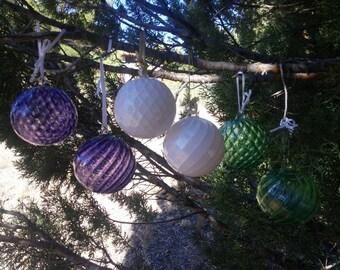 Handblown Glass Christmas Tree Ornament