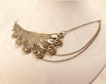 Filigree and steampunk inspired bronze colored chain necklace / Victorian