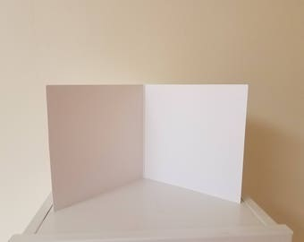 5x5 cards. Blank White Cards.
