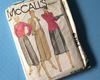 """Vintage Sewing Pattern - McCall's 6794 - Retro 1970's Dressmaking Pattern - Blazer Blouse Skirt Sewing Pattern - Size 12 Bust 34"""" Sewing"""