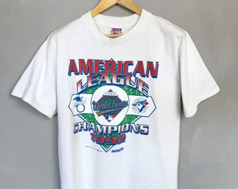 "T-RENCH USA ULTRA• ""Toronto Blue Jays Champions 1992"" Vintage T-Shirt • L • Baseball • Canada • Major League •"