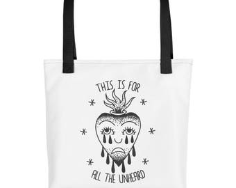 For The Unheard Back Patch Bouncing Souls Tote bag