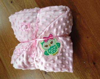 toddler blanket baby pink blanket minky blanket