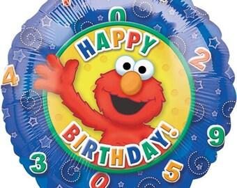 Elmo Birthday Balloons, Sesame Street Party Balloons, Elmo Number Birthday Decorations, Elmo Foil Mylar Balloons