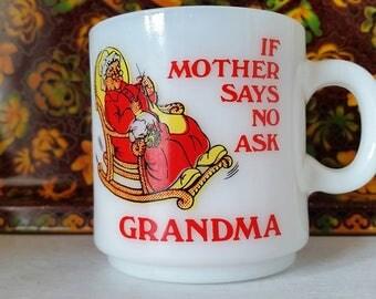 Milk Glass Mug - Stackable - Ask Grandma!