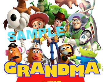 Toy Story Birthday Iron On Shirt Transfer, Disney Jessie Woody Buzz Lightyear tshirt or clip art printable, Grandma of the Birthday Boy