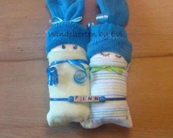 Diaper babies/Windelbabies for boy, baby gift birth