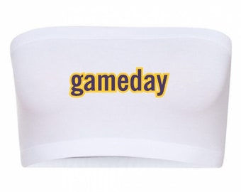 Gameday Bandeau/Game Day Bandeau/College Bandeau/Cute College Bandeau/College Tees/Any College/Tailgate Clothing/Tailgate Bandeau/Custom