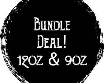 Wooden Wick Bundle Deal: 9oz & 4oz Soy Candles