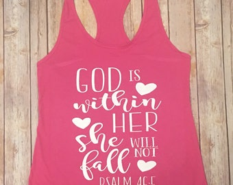 God is Within Her She Will Not Fail tank
