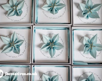 Origami Flower Boxed Wedding Invitations