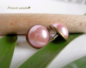 """Beautiful pair of stud earrings """"Rosy"""""""