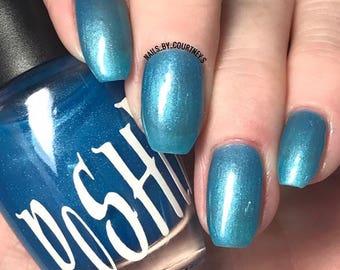 """Unique """"Enlightenment"""" Pastel Blue Nail Polish Full Size 15ml Bottle"""