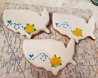 Yellow Rose of Texas Cookies