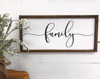 Family | Painted Wood Sign