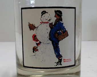 """Vintage Norman Rockwell """"Snow Sculpturing"""" Arby's Collection Series"""