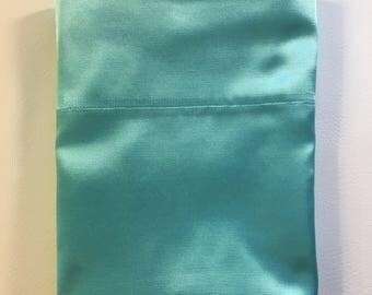 Queen Satin Pillowcase - light teal