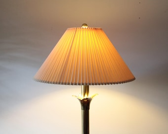 Lotus floor lamp with original shade for Stiffel Collection