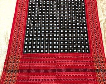 Handwoven ikat cotton Dupatta
