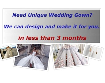 Custom Made Wedding Gown According to Your Ideas and Measurements